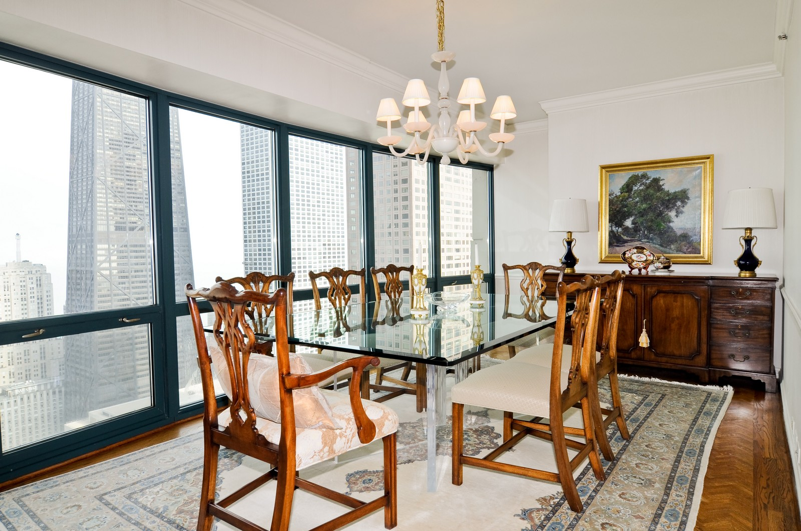 Real Estate Photography - 100 E Huron St, Apt 4201, Chicago, IL, 60611 - Dining Room