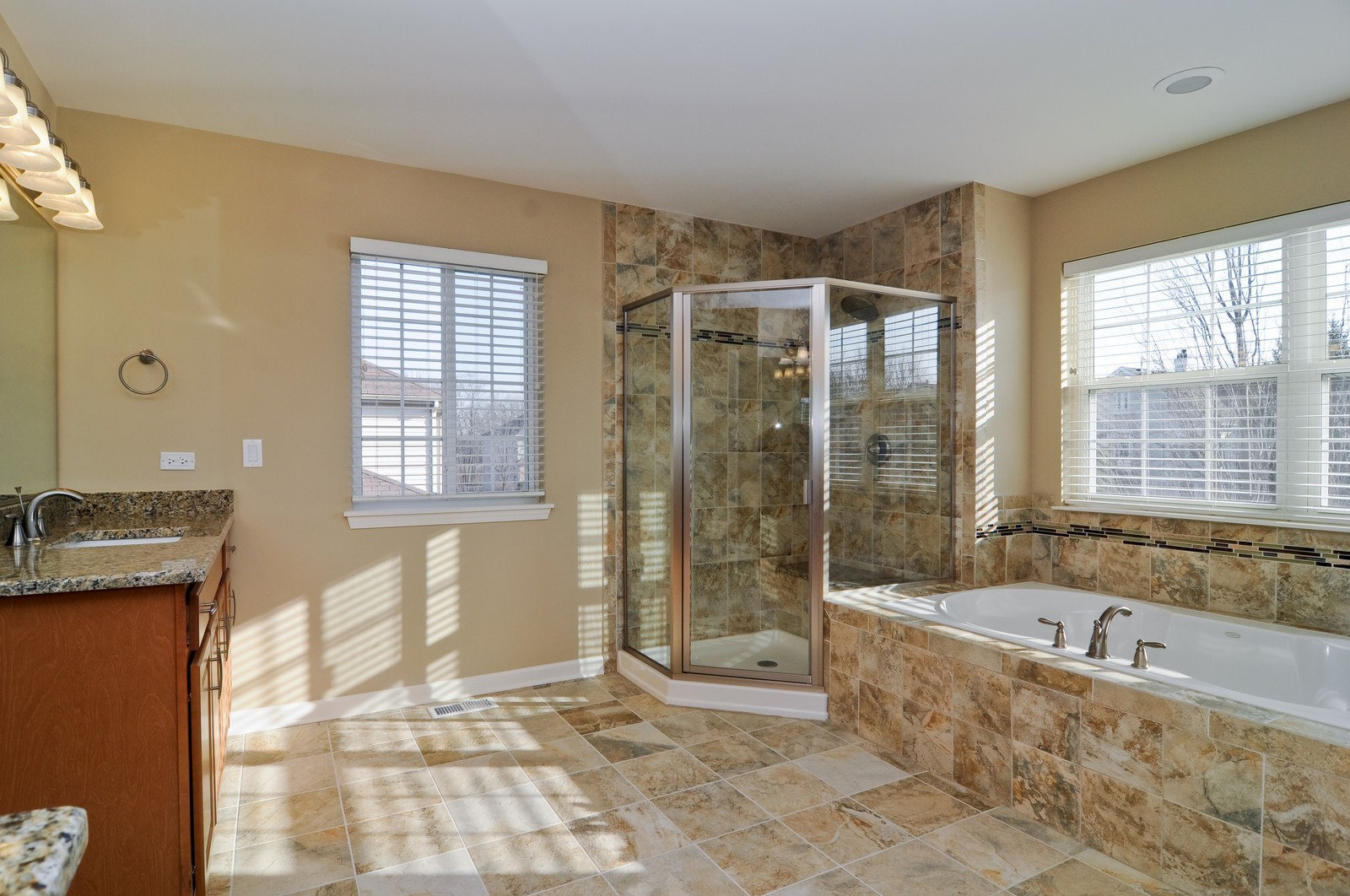 Real Estate Photography - 7394 Brentwood, Gurnee, IL, 60031 - Master Bathroom