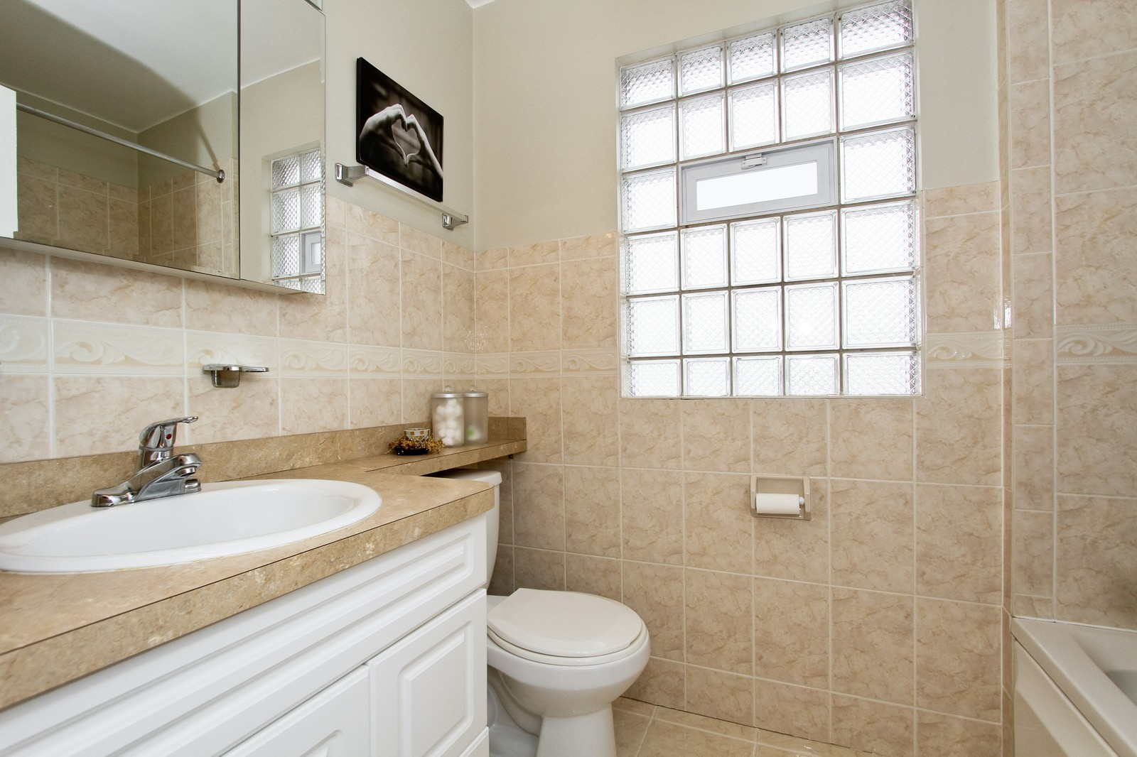 Real Estate Photography - 6053 S Menard Ave, Chicago, IL, 60638 - Bathroom