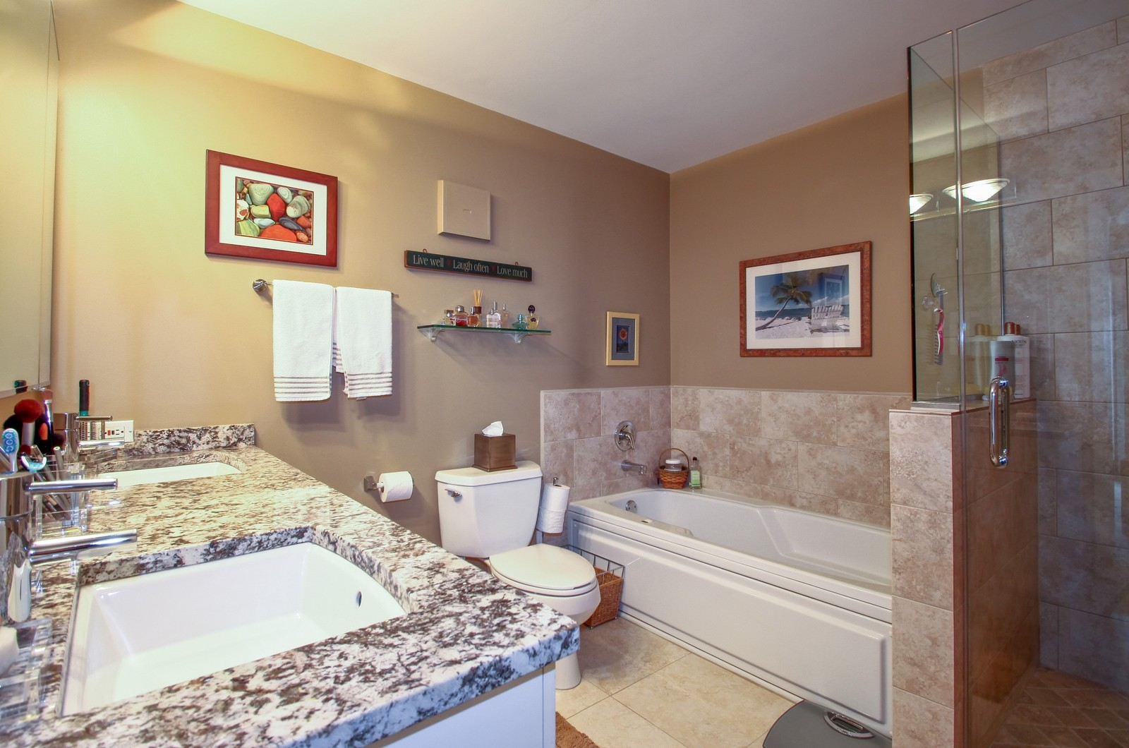 Real Estate Photography - 7070 Arbor Ln, Northfield, IL, 60093 - Master Bathroom