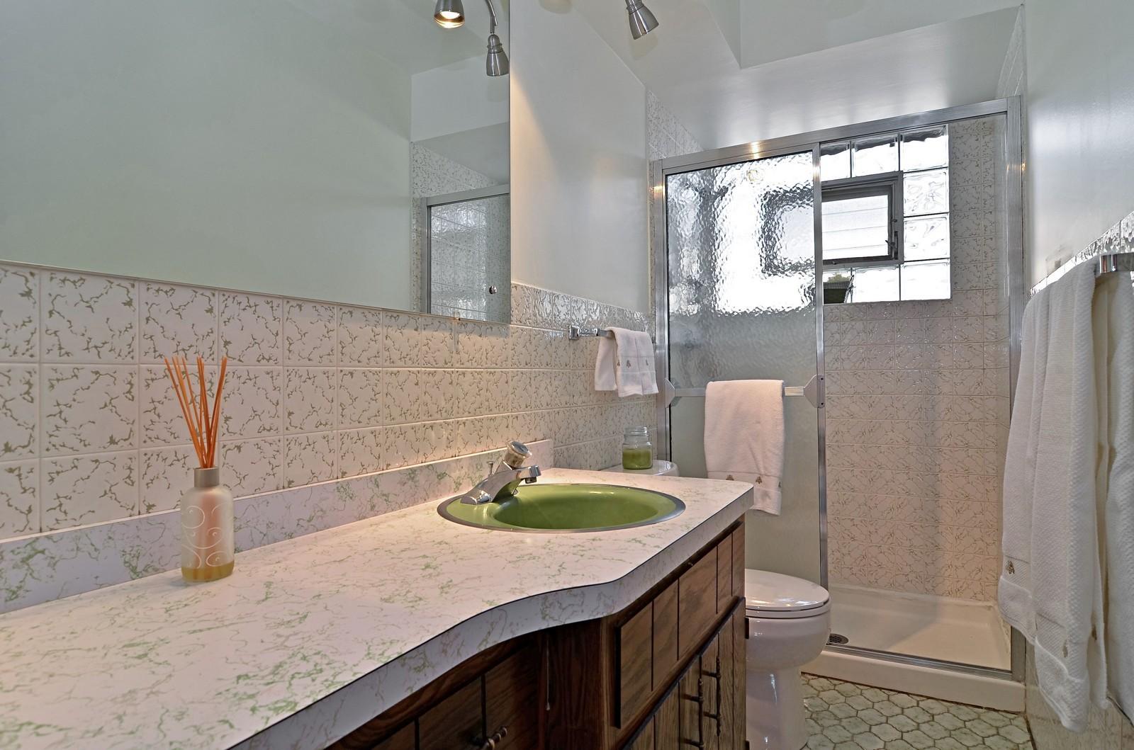 Real Estate Photography - 7070 Mason, Chicago, IL, 60646 - Bathroom