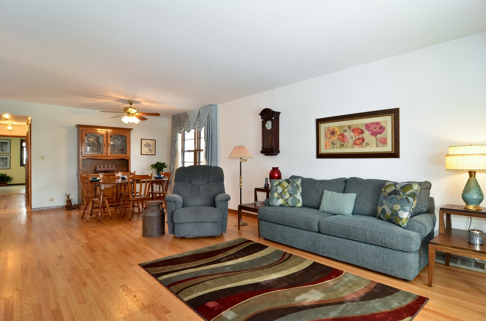 Real Estate Photography - 7070 Mason, Chicago, IL, 60646 - Living Room / Dining Room