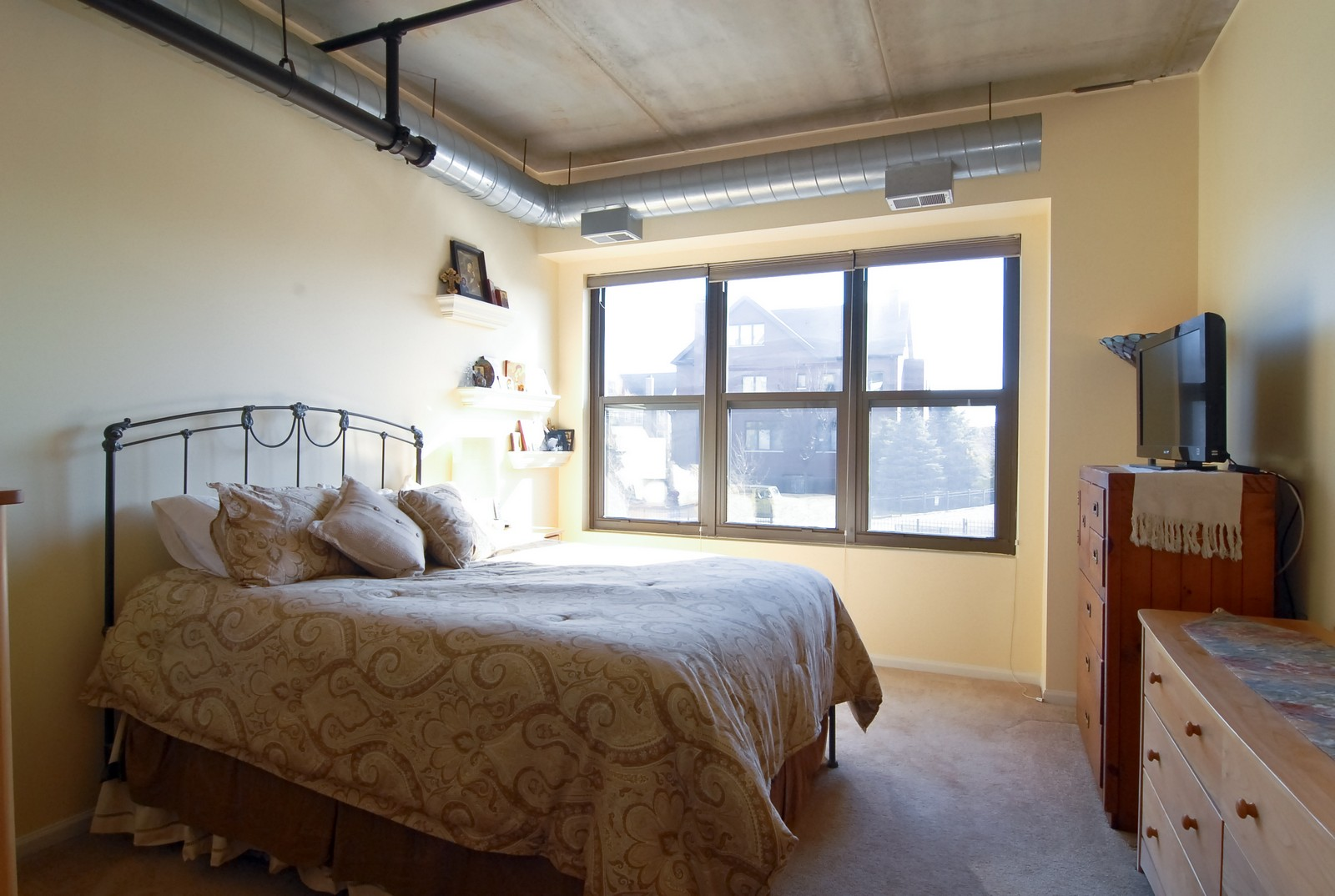 Real Estate Photography - 1735 W Diversey, Unit 210, Chicago, IL, 60657 - Master Bedroom