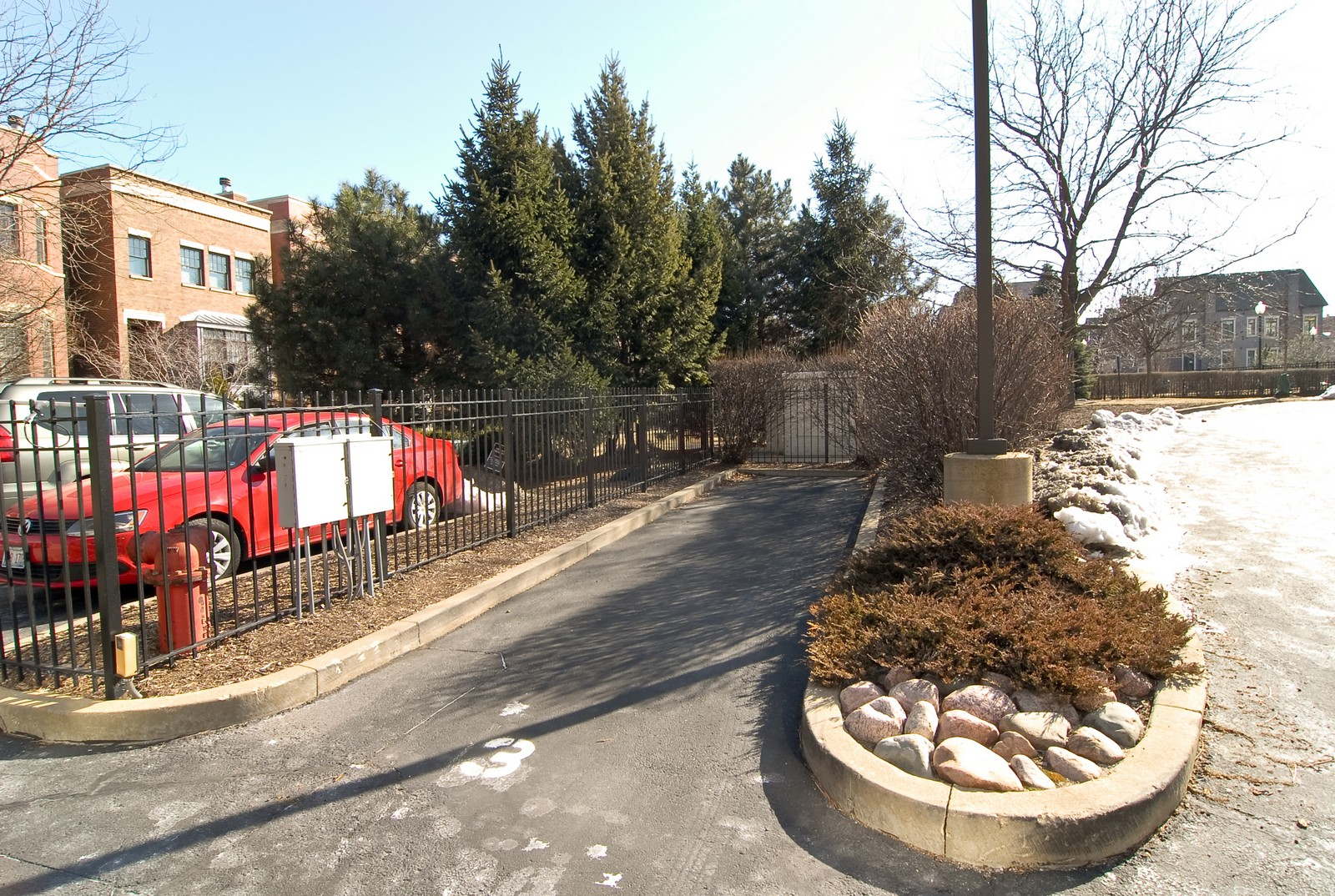 Real Estate Photography - 1735 W Diversey, Unit 210, Chicago, IL, 60657 - Parking Area