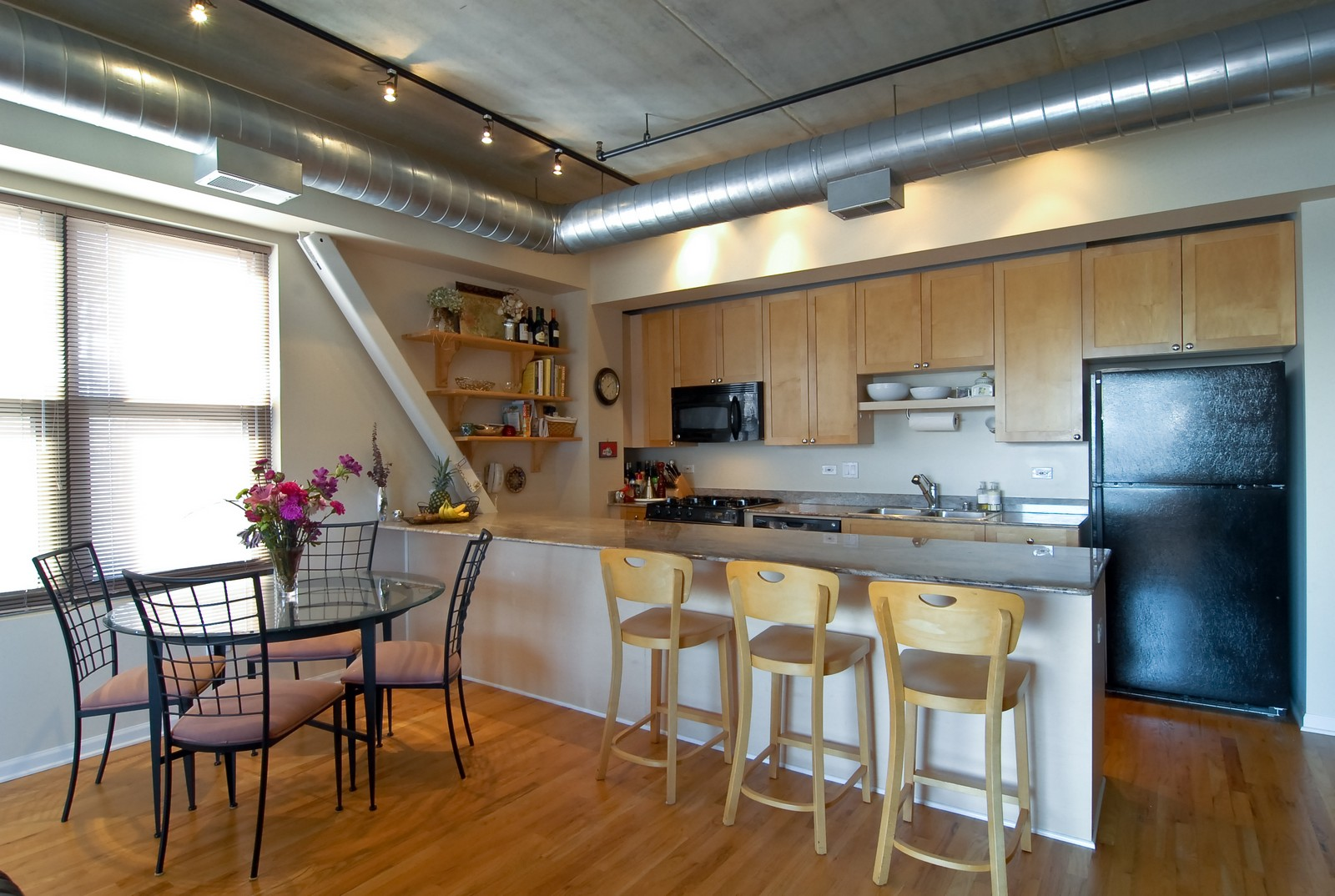 Real Estate Photography - 1735 W Diversey, Unit 210, Chicago, IL, 60657 - Kitchen / Dining Room