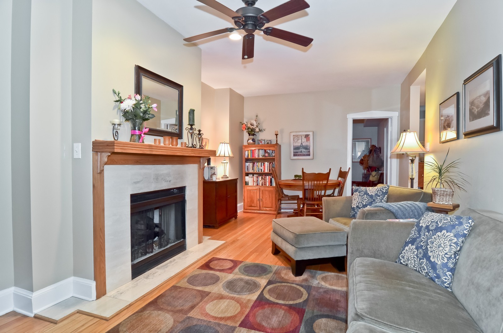 Real Estate Photography - 2020 N Burling, Unit 103, Chicago, IL, 60614 - Living Room / Dining Room