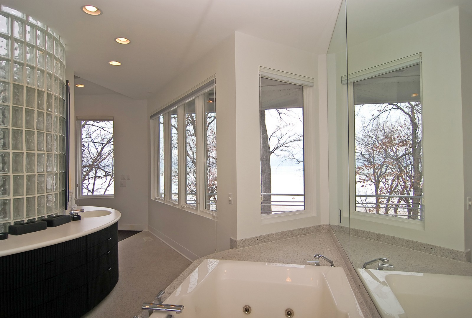 Real Estate Photography - 15930 Lake Ave, Union Pier, MI, 49129 - Master Bathroom