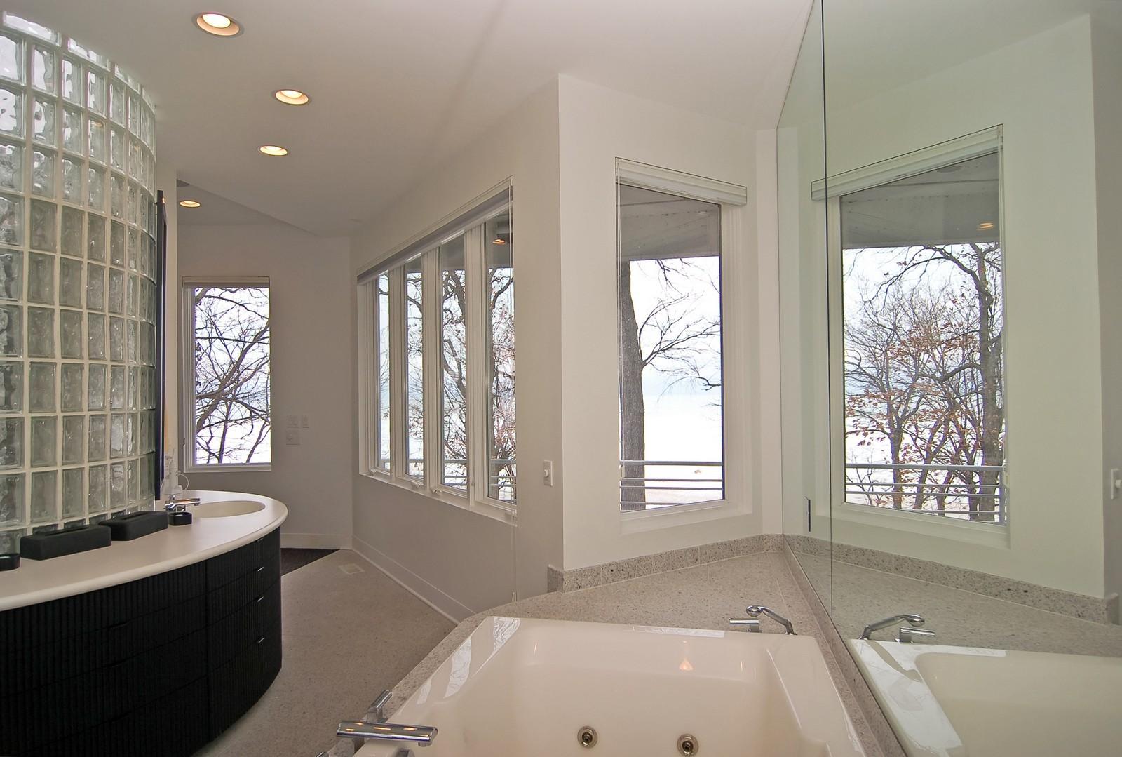 Real Estate Photography - 15930 Lake Ave, Union Pier, MI, 49129 - Master Bathroom