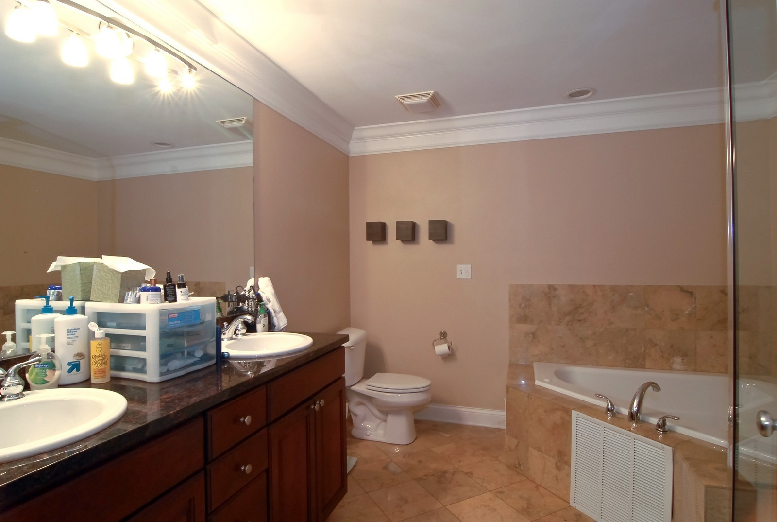 Real Estate Photography - 454 N Aberdeen St, Unit GN, Chicago, IL, 60622 - Master Bathroom