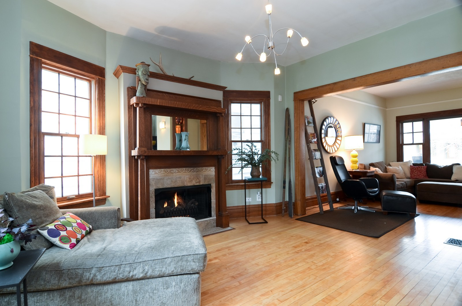 Real Estate Photography - 2519 N St. Louis, Chicago, IL, 60647 - Living Rm/Family Rm