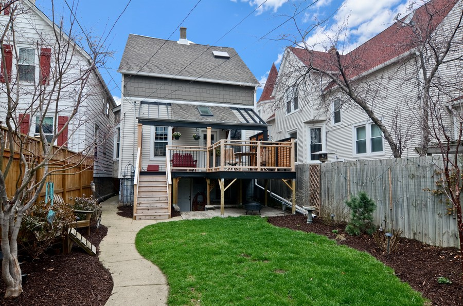 Real Estate Photography - 2519 N St. Louis, Chicago, IL, 60647 - Rear View