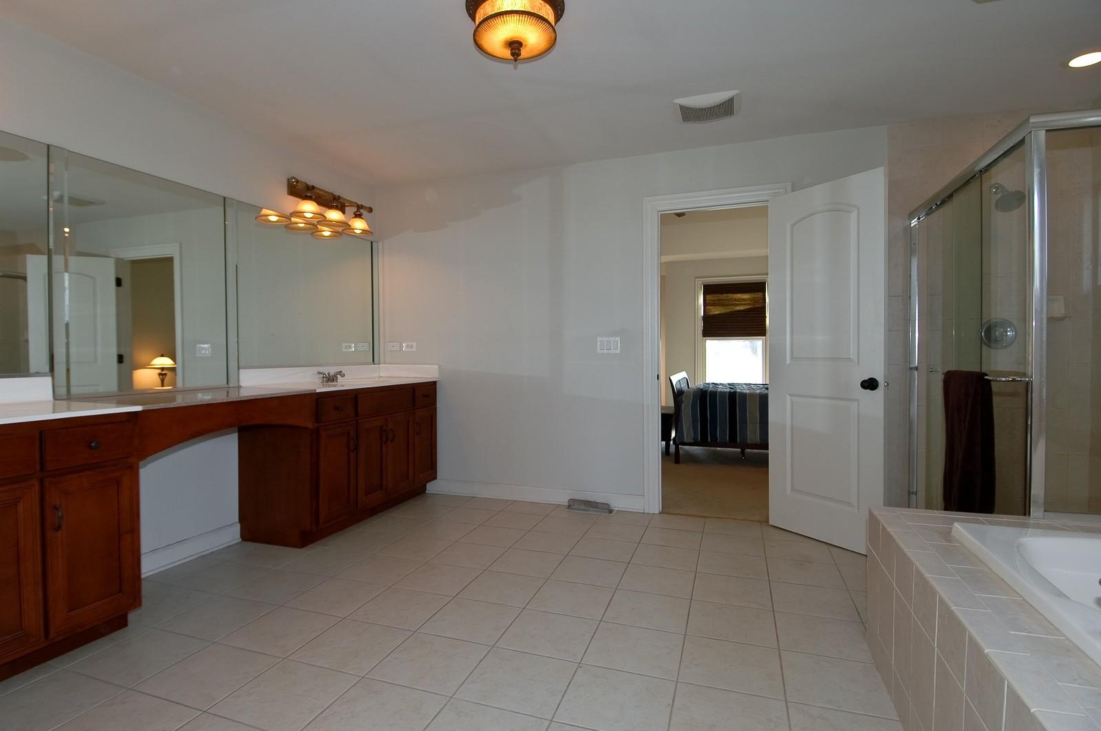Real Estate Photography - 10575 Oakleaf Lane, Huntley, IL, 60142 - Master Bathroom