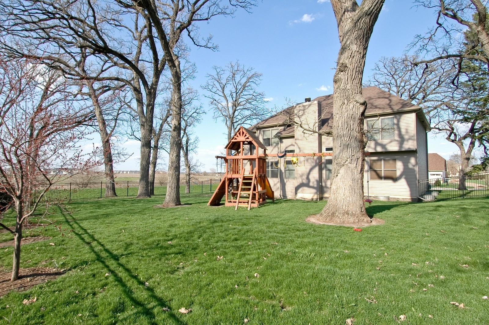 Real Estate Photography - 10575 Oakleaf Lane, Huntley, IL, 60142 - Rear View