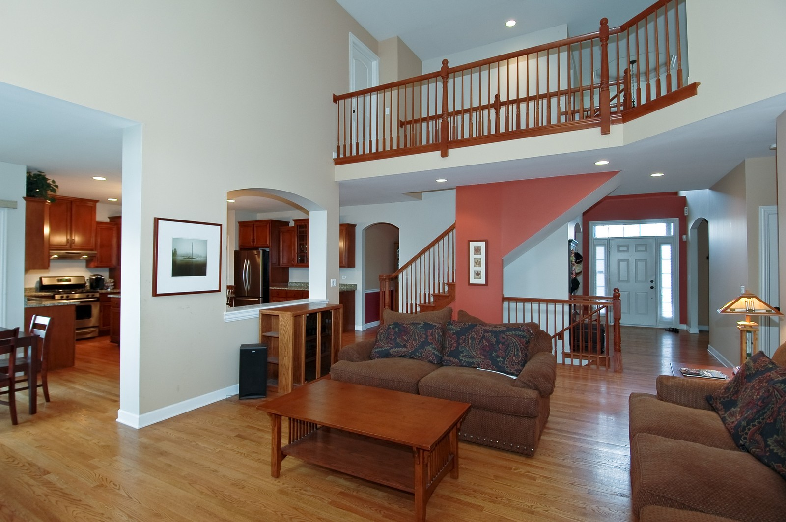 Real Estate Photography - 10575 Oakleaf Lane, Huntley, IL, 60142 - Family Room - Foyer