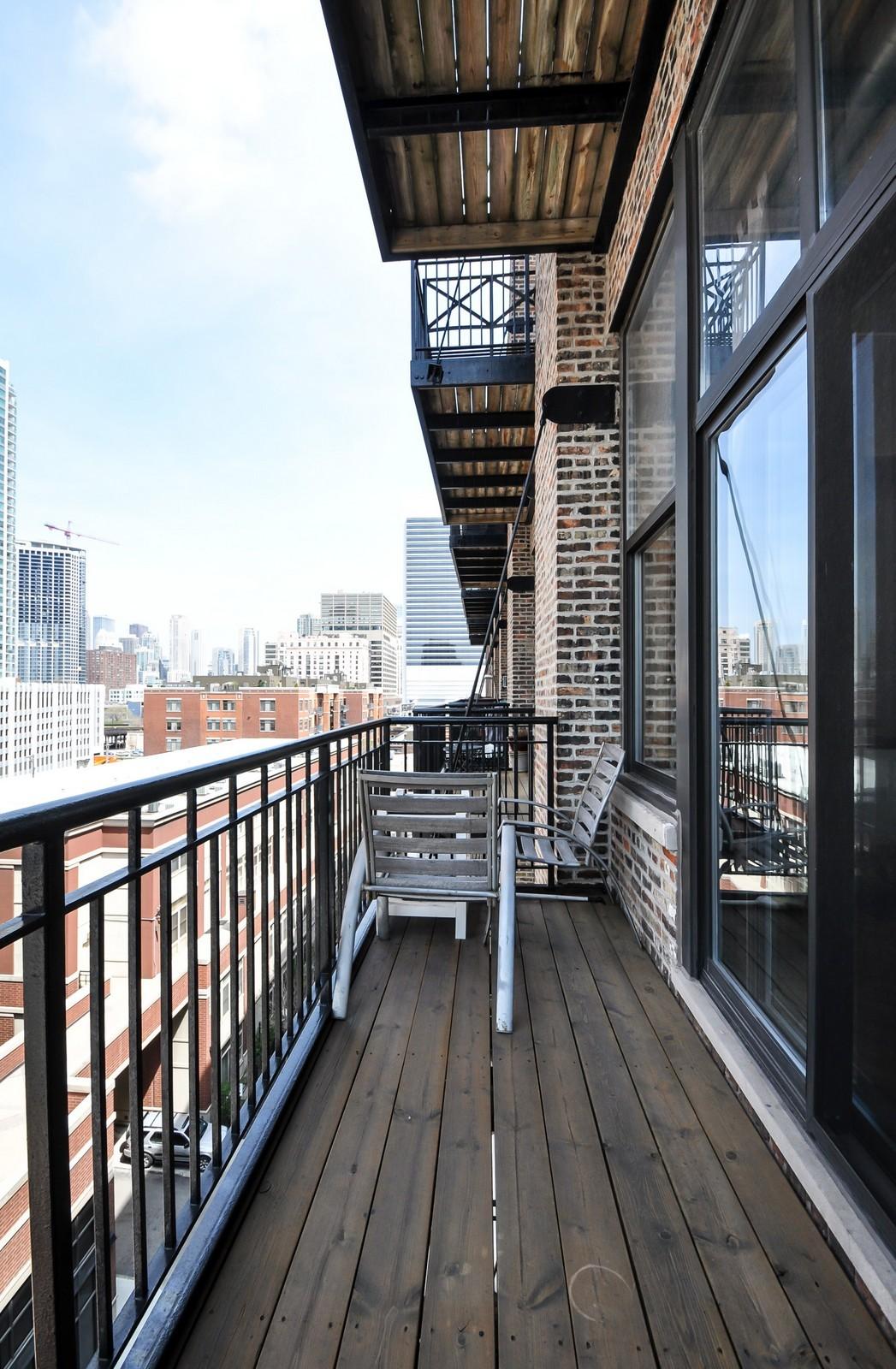 Real Estate Photography - 616 W Fulton, Unit 506, Chicago, IL, 60661 - Balcony