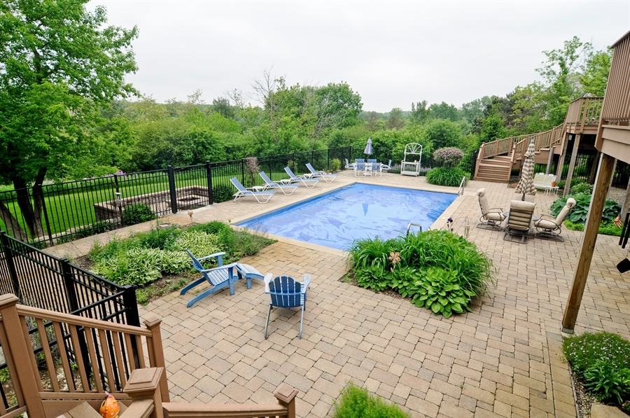 Real Estate Photography - 205 Honey Lake Court, North Barrington, IL, 60010 - Pool & Patio