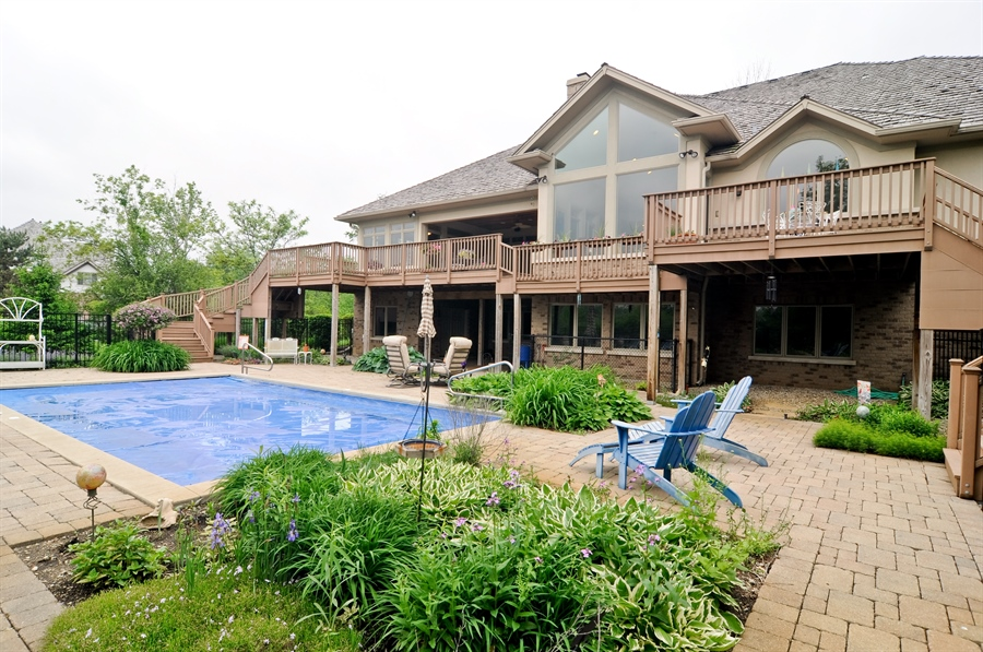 Real Estate Photography - 205 Honey Lake Court, North Barrington, IL, 60010 - Back Exterior View of Home