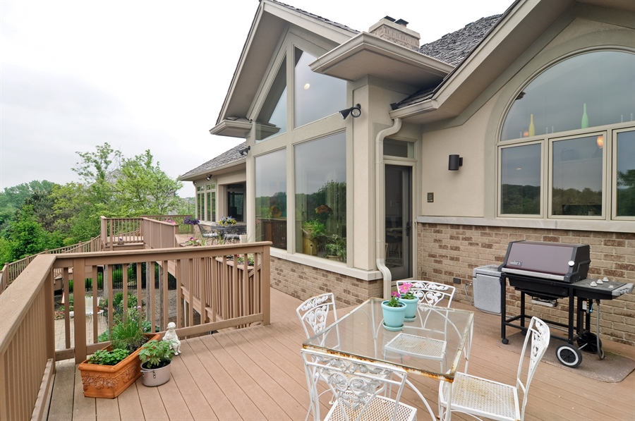 Real Estate Photography - 205 Honey Lake Court, North Barrington, IL, 60010 - Deck Off Kitchen & Eating Area