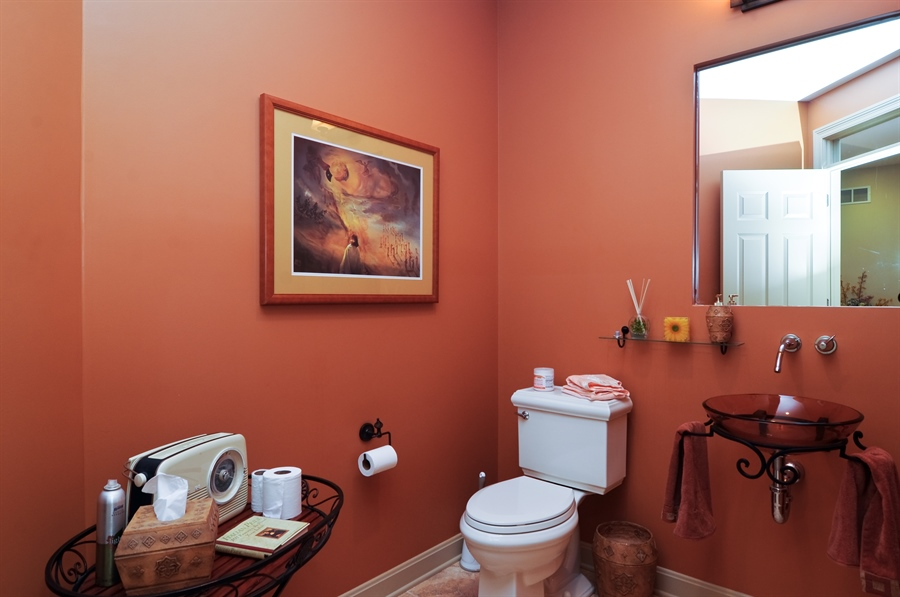 Real Estate Photography - 205 Honey Lake Court, North Barrington, IL, 60010 - Main Level Guest Bath