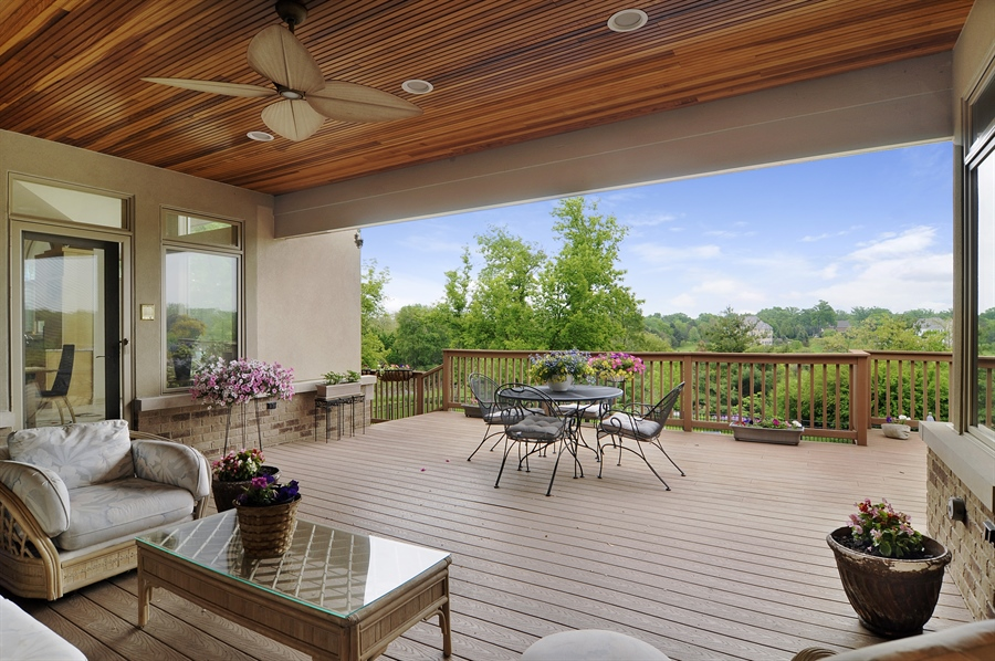 Real Estate Photography - 205 Honey Lake Court, North Barrington, IL, 60010 - Covered & Open Deck