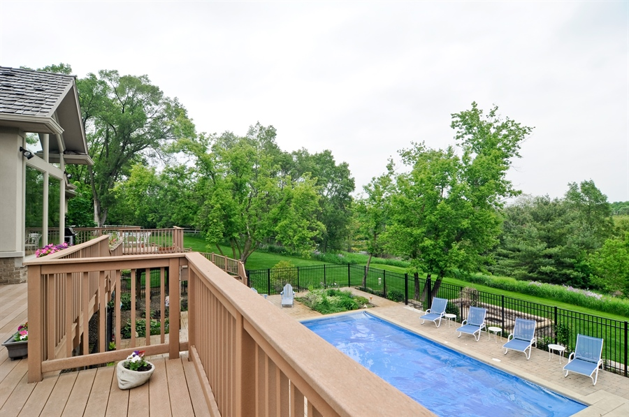 Real Estate Photography - 205 Honey Lake Court, North Barrington, IL, 60010 - Deck