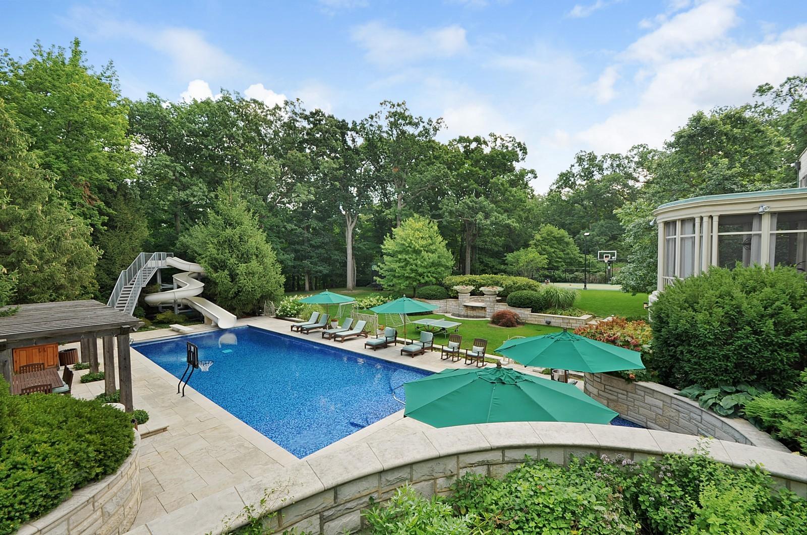 Real Estate Photography - 443 Sheridan Rd, Glencoe, IL, 60022 - Back Yard