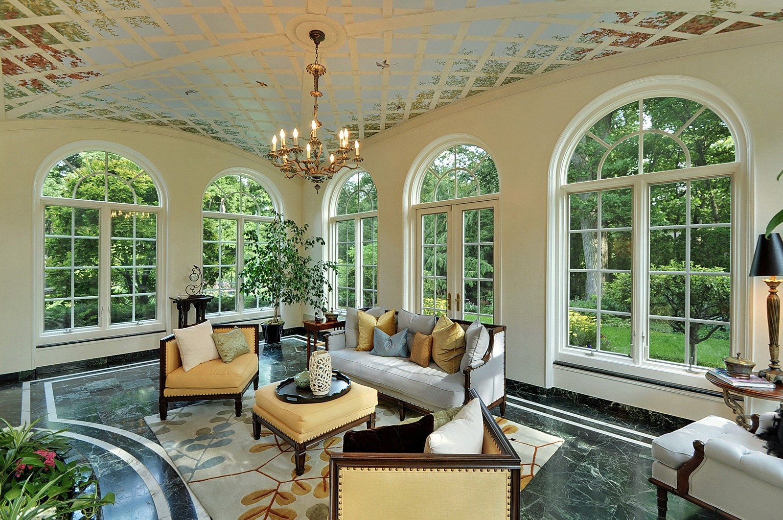 Real Estate Photography - 443 Sheridan Rd, Glencoe, IL, 60022 - Solarium/ Sun Room