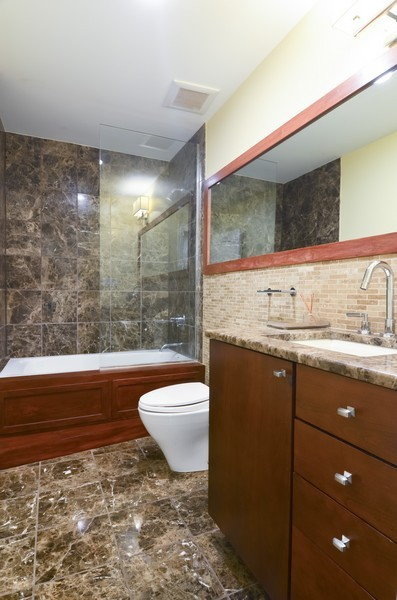 Real Estate Photography - 1627 N. Bell, Chicago, IL, 60647 - 3rd Bathroom