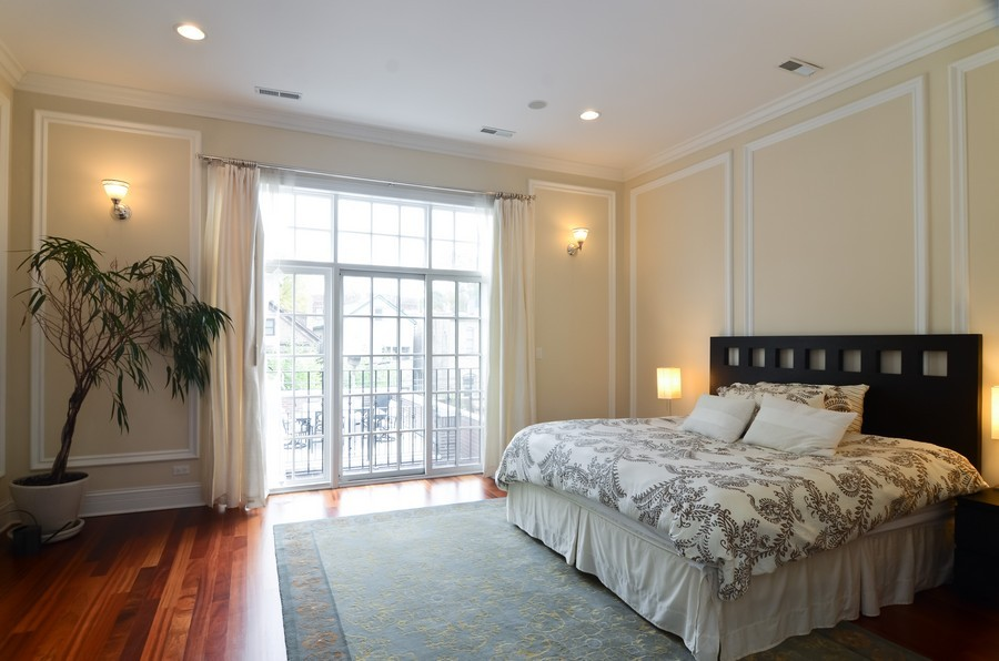 Real Estate Photography - 1627 N. Bell, Chicago, IL, 60647 - Master Bedroom