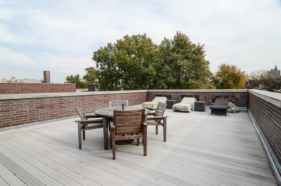Real Estate Photography - 1627 N. Bell, Chicago, IL, 60647 - Roof Deck