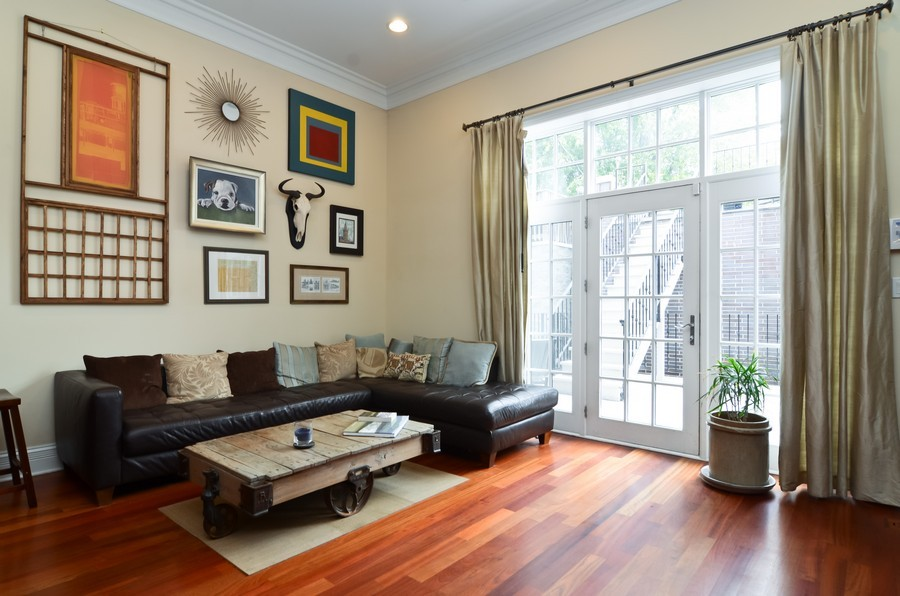 Real Estate Photography - 1627 N. Bell, Chicago, IL, 60647 - Family Room