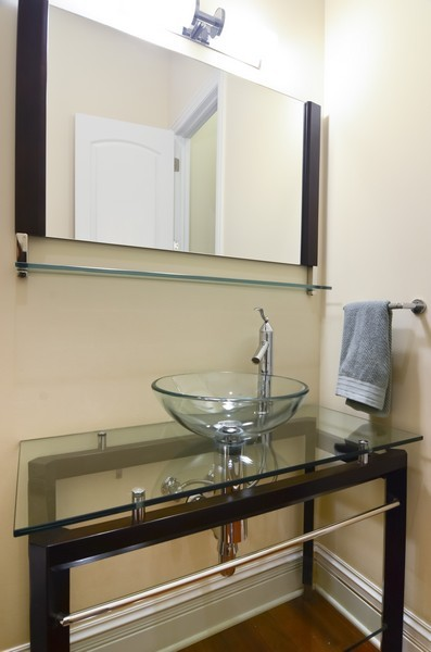 Real Estate Photography - 1627 N. Bell, Chicago, IL, 60647 - Half Bath