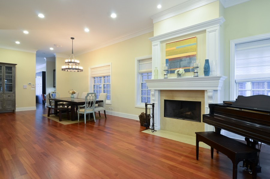 Real Estate Photography - 1627 N. Bell, Chicago, IL, 60647 - Living Room / Dining Room
