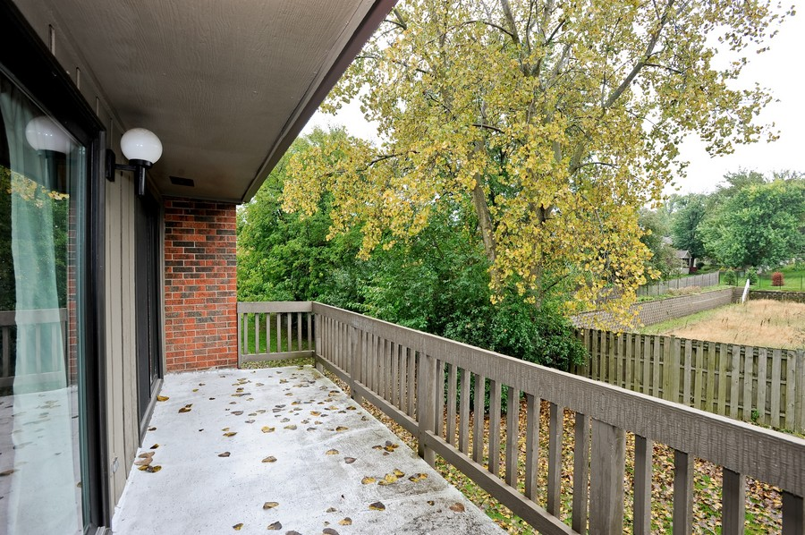 Real Estate Photography - 29W431 Emerald Green, Unit F, Warrenville, IL, 60555 - Balcony