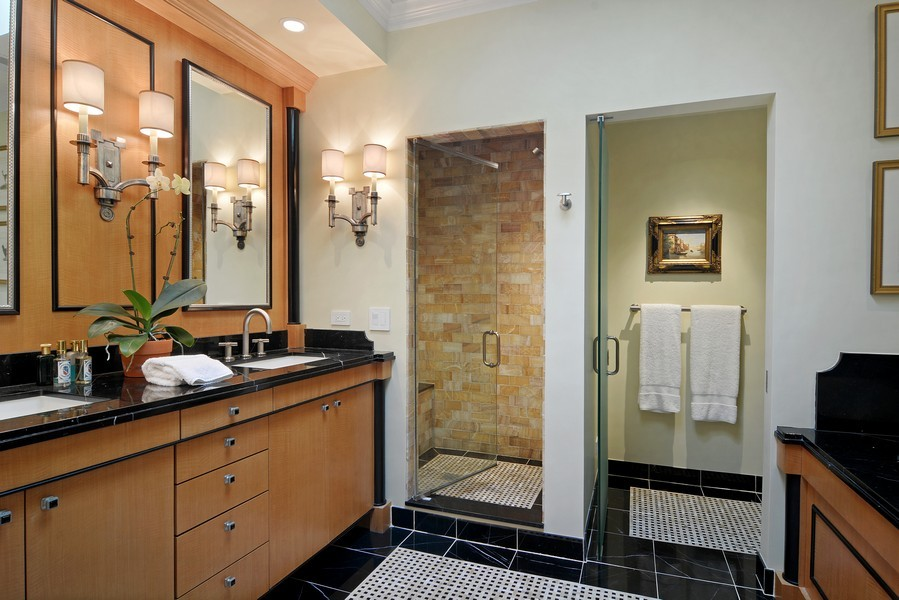 Real Estate Photography - 715 W Hutchinson, Chicago, IL, 60613 - Master Bathroom