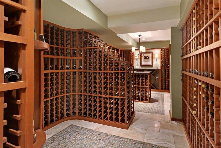 Real Estate Photography - 715 W Hutchinson, Chicago, IL, 60613 - Wine Cellar