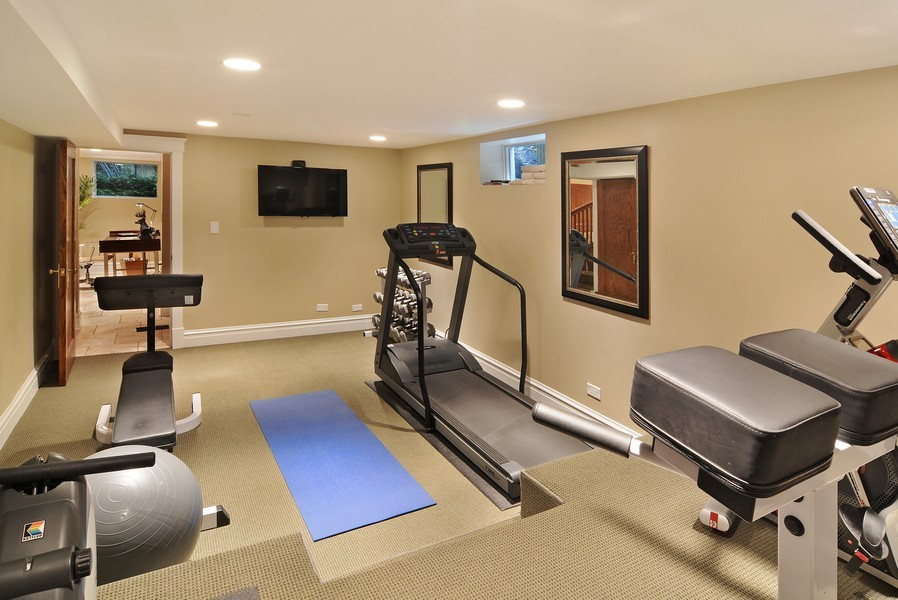 Real Estate Photography - 715 W Hutchinson, Chicago, IL, 60613 - Fitness Room