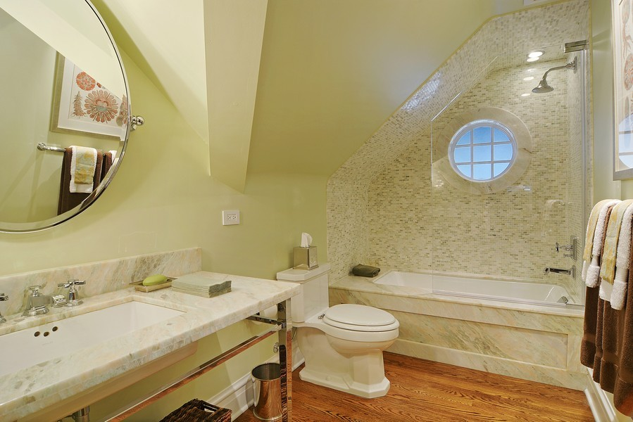 Real Estate Photography - 715 W Hutchinson, Chicago, IL, 60613 - 2nd Bathroom