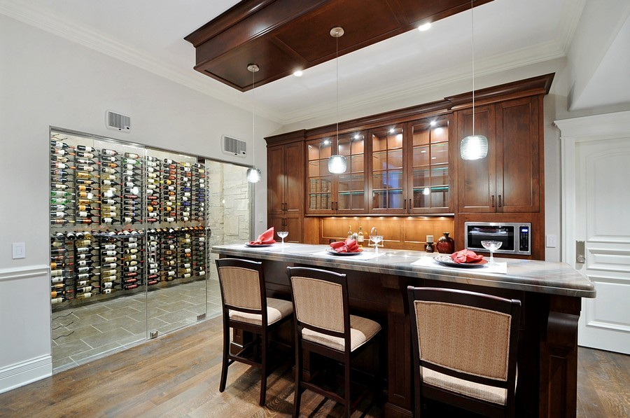 Real Estate Photography - 561 Circle Ln, Lake Forest, IL, 60045 - Wine Cellar