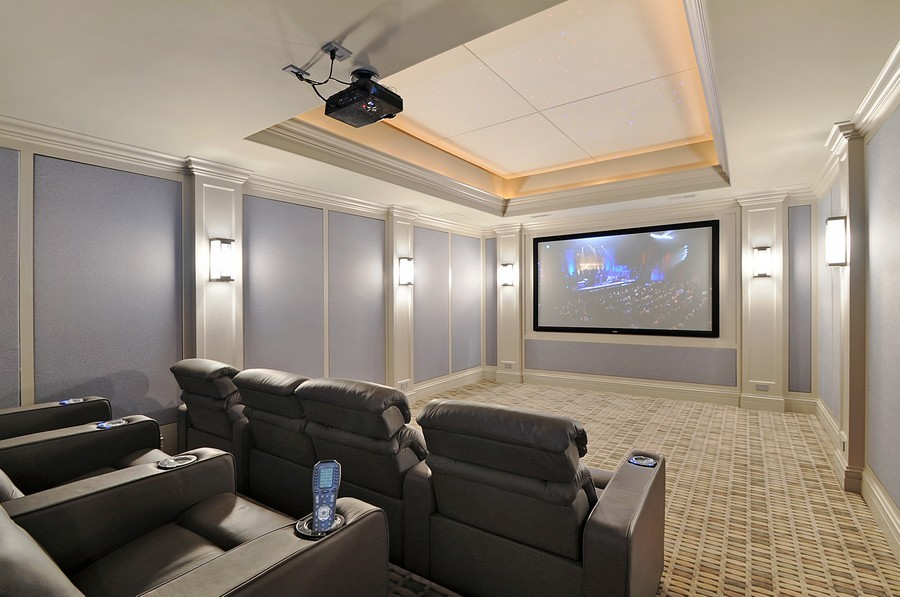 Real Estate Photography - 561 Circle Ln, Lake Forest, IL, 60045 - Theater