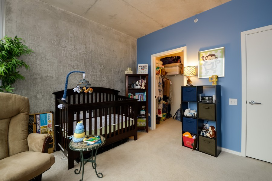 Real Estate Photography - 659 W Randolf, Unit 1014, Chicago, IL, 60661 - Bedroom