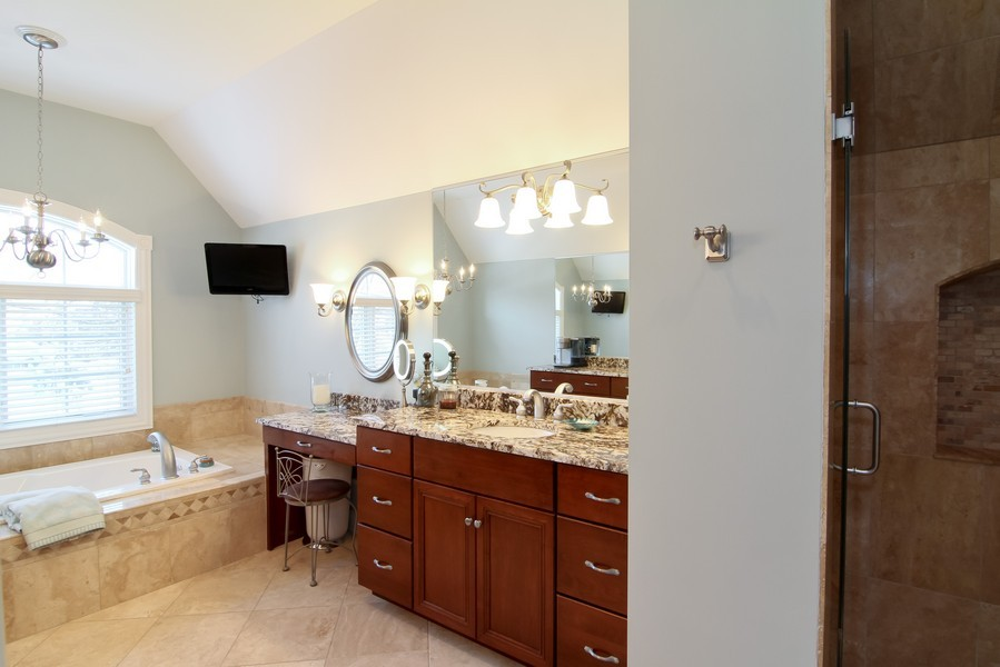 Real Estate Photography - 4636 Washington St, Downers Grove, IL, 60515 - Master Bathroom