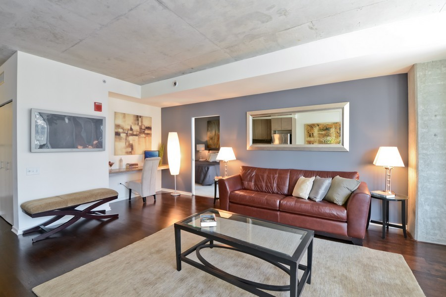 Real Estate Photography - 659 W Randolph, Unit 1415, Chicago, IL, 60661 - Living Room