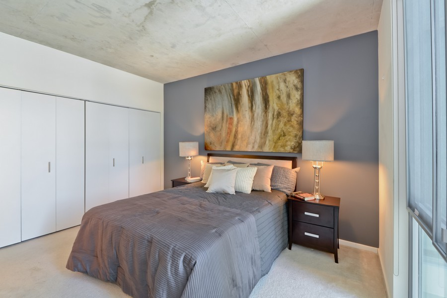 Real Estate Photography - 659 W Randolph, Unit 1415, Chicago, IL, 60661 - Master Bedroom