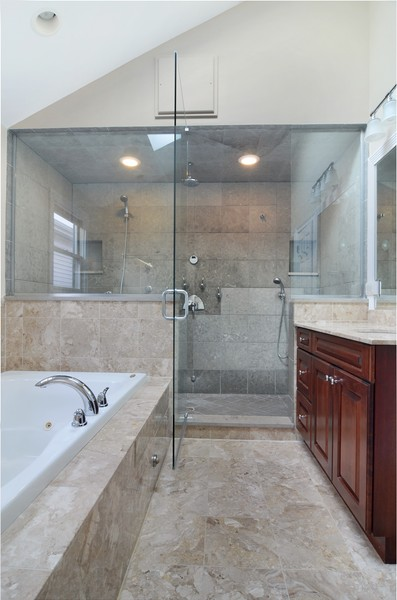 Real Estate Photography - 3319 N. Hamilton, Chicago, IL, 60618 - Master Bathroom