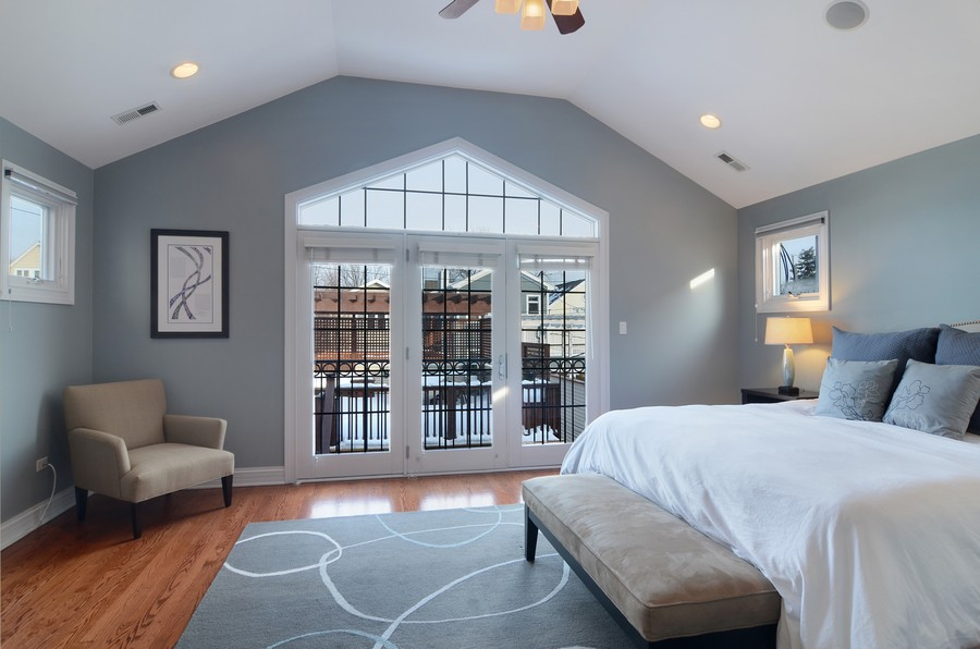 Real Estate Photography - 3319 N. Hamilton, Chicago, IL, 60618 - Master Bedroom