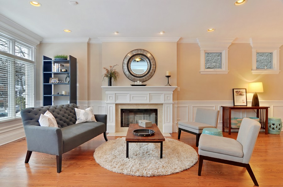 Real Estate Photography - 3319 N. Hamilton, Chicago, IL, 60618 - Living Room