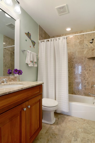 Real Estate Photography - 3319 N. Hamilton, Chicago, IL, 60618 - 2nd Bathroom