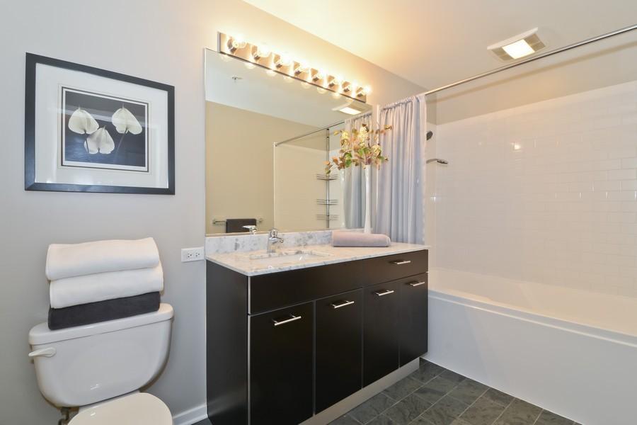 Real Estate Photography - 659 W Randolph, Unit 1013, Chicago, IL, 60661 - Bathroom
