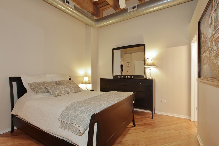 Real Estate Photography - 616 W Fulton St, Unit 219, Chicago, IL, 60661 - Master Bedroom